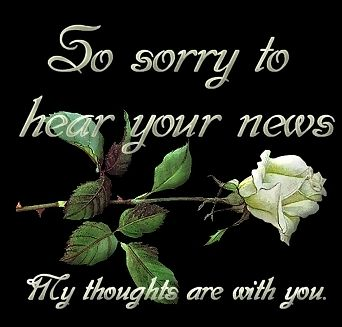 so sorry to hear your news my thoughts are with you