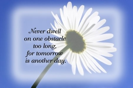 never dwell too long tomorrow is another day