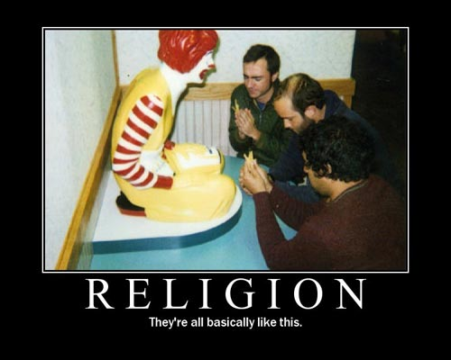 religion - pray to ronald mcdonald