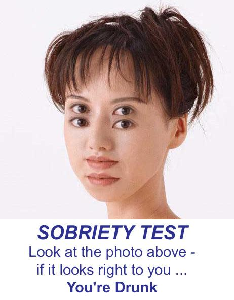 sobriety test - girl with 4 eyes