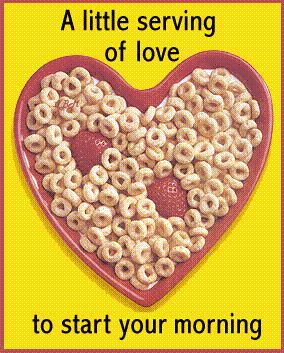 a little serving of love to start your morning cheerios