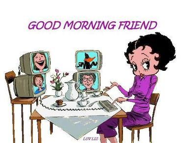 good morning friend betty boop