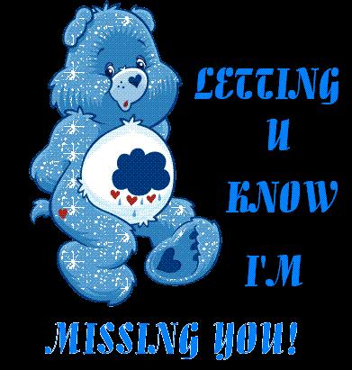 letting u know i'm missing you