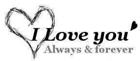 i love you always and forever