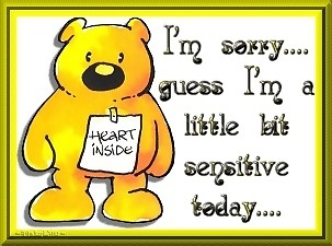 i'm sorry guess i'm a little bit sensitive today