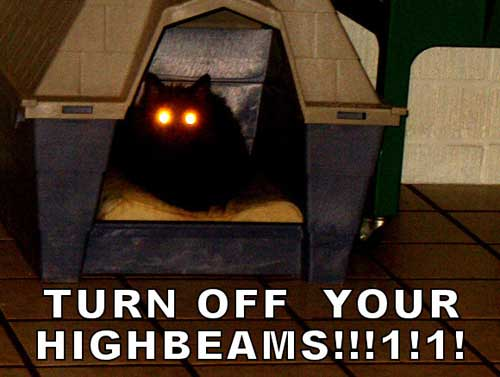 turn off your highbeams