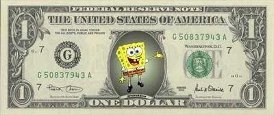 spongebob dollar bill