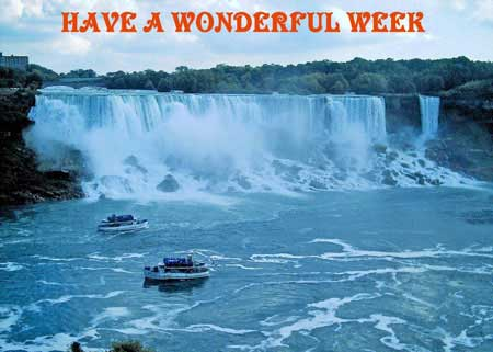have a wonderful week waterfall