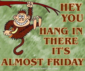 hey you hang in there it's almost friday
