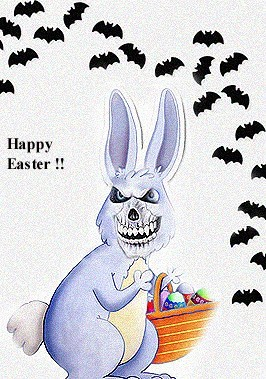 happy easter evil easter bunny