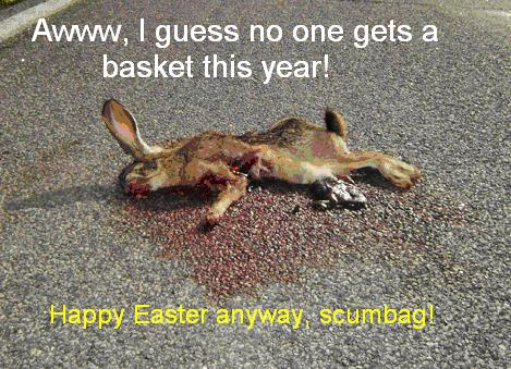dead easter bunny