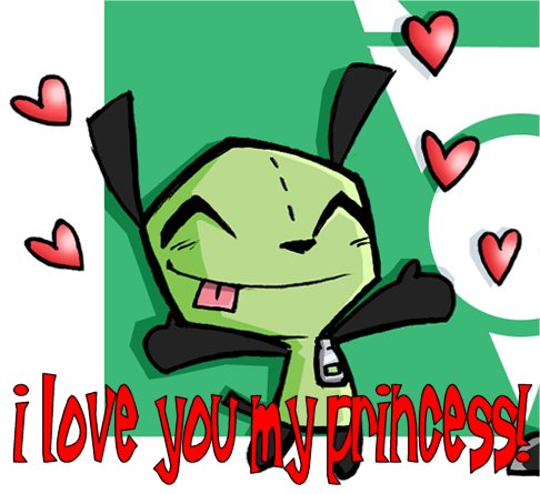 i love you my princess grr invader zim
