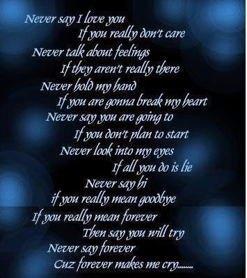 never say i love you