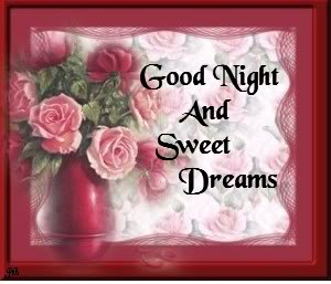 good night and sweet dreams