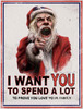 i want you to spend a lot to prove you love your family santa