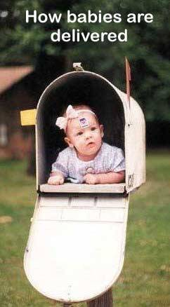 baby in a mailbox