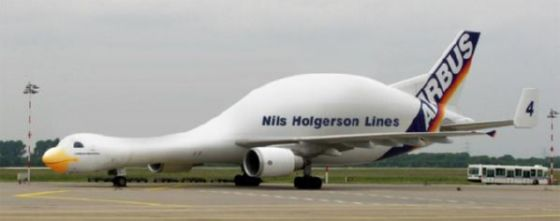 airplane shaped like goose airbus