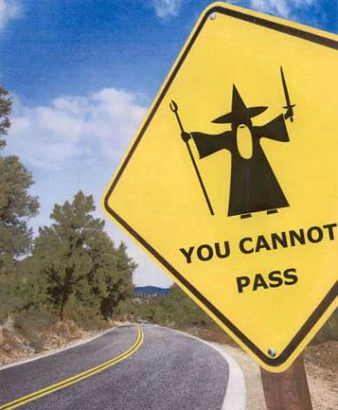 wizard you cannot pass sign