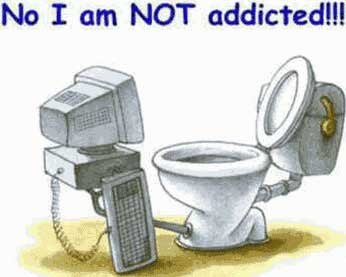 computer in front of toilet not addicted