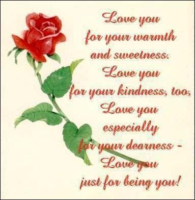 love you for your warmth and sweetness rose