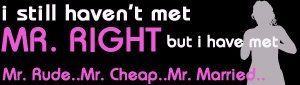 i haven't met mr right but i have met mr rude mr cheap mr married