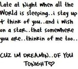 dreaming of you tonight