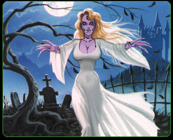 purple vampire cartoon
