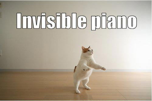 invisible piano