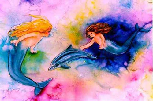 mermaids and dolphin