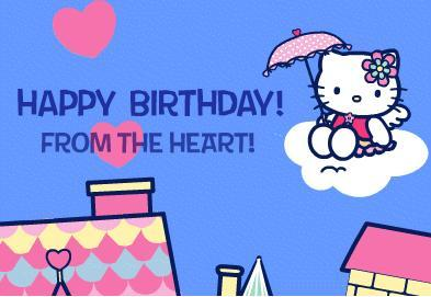 happy birthday from the heart hello kitty