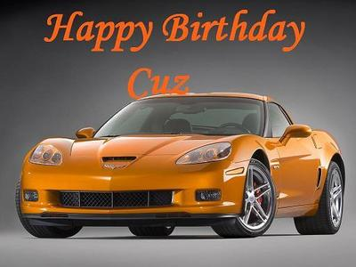 happy birthday cuz sports car
