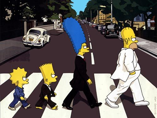 simpsons beatles cd cover