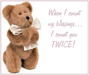 when i count my blessings i count you twice teddy bear