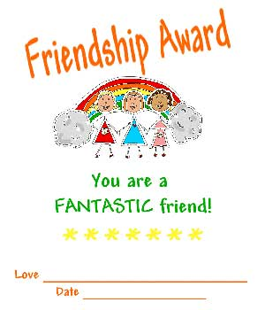 friendship award you are a fantastic friend