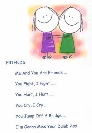 me and you are friends