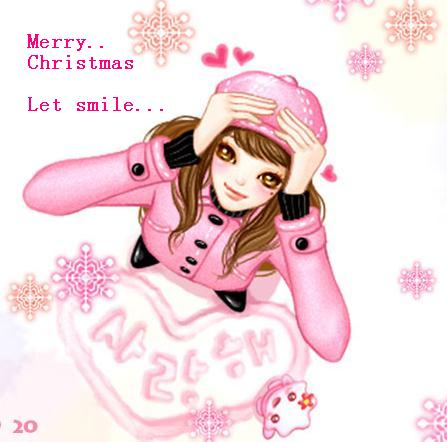 merry christmas let smile