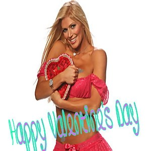 happy valentines day sexy blonde