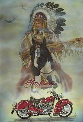 indian and motorcycle