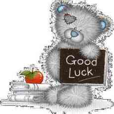 good luck teddy bear