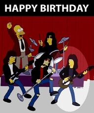 happy birthday simpsons ramones