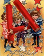 4th of July - Children with dynamite