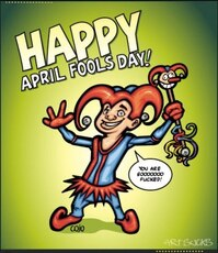 happy april fools day jester