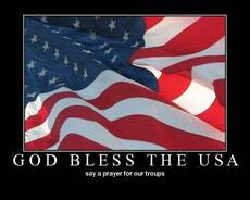 god bless the usa say a prayer for our troops