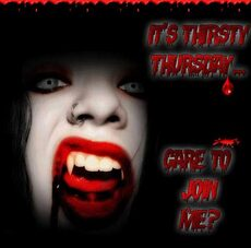 its thirsty thursday care to join me vampire