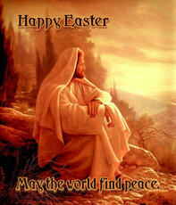 happy easter may the world find peace