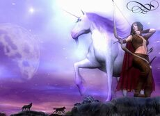 unicorn and archer wolves moon